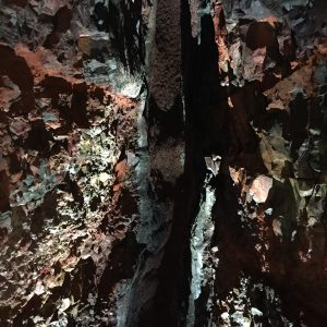 minerals from lava eruption paint the magma chamber