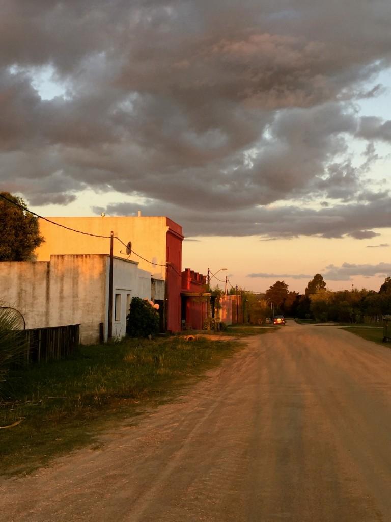 evening light in the pueblo